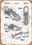Toddrick 1980 Fußball-Schuhe Cleats Patent Blechschild Chic Sign Vintage Style Retro Küche Bar Pub Coffee Shop Decor 20,3 x 30,5 cm