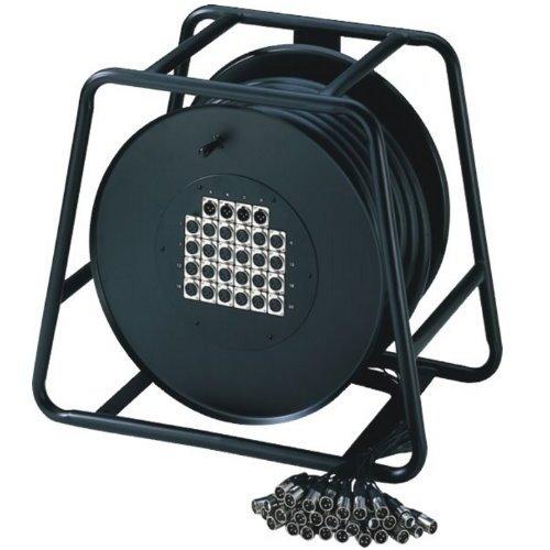 Adam Hall K 20 C 50 D 16/4er Multicore-Kabel mit Stagebox (Kabeltrommel, 50m)