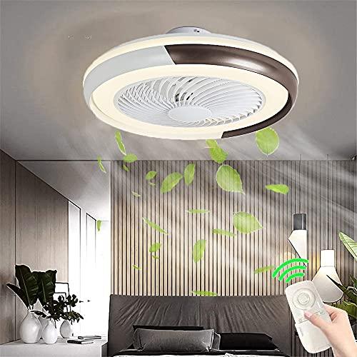 Ventiladores de techo invisibles con Luz LED Creative Fan Luz de techo Lámpara de ventilador silencioso regulable de 50W con control remoto y APP luz del ventilador para dormitorio salón