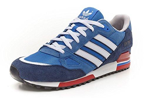 adidas - ZX 750, Scarpe da Uomo, Blu (Blue/White/Red), 43.3333333333333