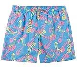 TY.OLK Shorts de Playa para Hombre de Verano de Secado rápido con Forro de Malla y Bolsillos Shorts de baño para bañador