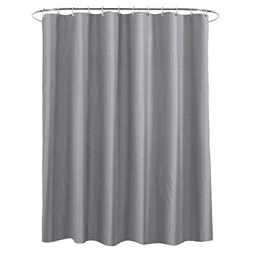 Blackr Duschvorhang, schimmelresistent, wasserabweisend, antibakteriell, für Badezimmer, Polyester, Silbergrau, 180x 200cm (H*W)