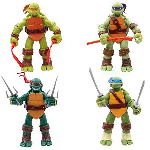 Teenage Mutant Ninja Turtles Action Figures for Boys - Leonardo, Raphael, Michaelangelo, Donnatello Action Figure Pack