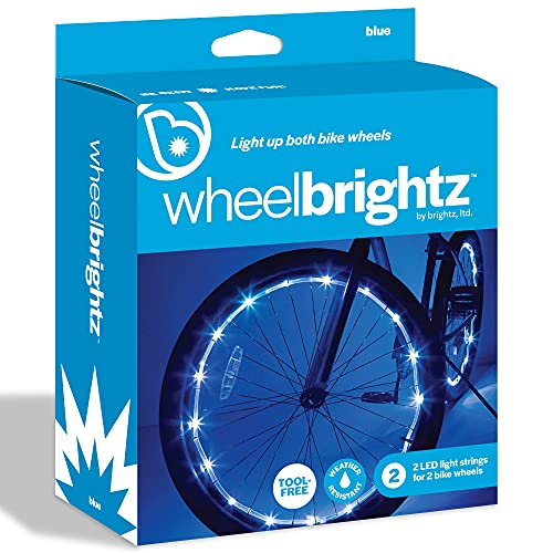 Brightz WheelBrightz LED Bike Wheel Lights, Blue, Pack of 2 Wheel Lights – Bright Colored Lights for Bicycle Tires – Best Fun Outdoor Stocking Stuffer Birthday Gift for Kids, Teens, Adults