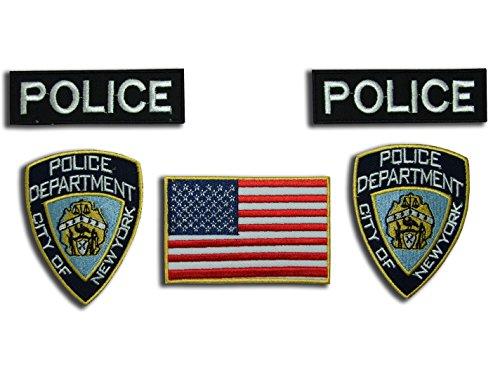 CSI NYPD parche disfraz Set, 5hierro sobre tarjetas por ONEKOOL