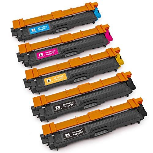feier Recambio para Tóner Brother TN241 y TN245, cartuchos compatibles con impresoras Brother HL-3140CW HL-3150CDW HL-3170CDW HL-3142CW HL-3152CDW HL-3172CDW MFC-9020CDW MFC-9015CDW y MFC-9330CDW
