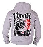 Dirty Ray Artes Marciales MMA Fighter Sudadera Hombre con Capucha B50 (XL)