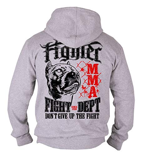 Dirty Ray Arts Martiaux MMA Fighter Sweat Homme avec Capuche B50 (XL)