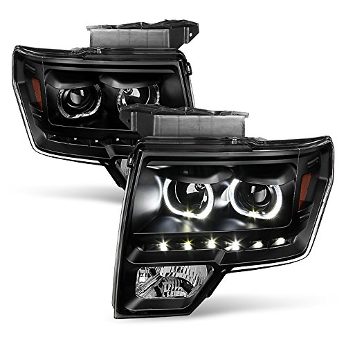 ACANII - For Black 2009-2014 Ford F150 SMD LED Halo Projector Headlights...