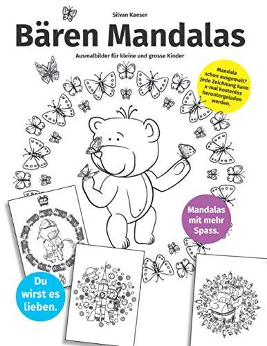 Bären Mandalas: Ausmalbilder für kleine und grosse Kinder