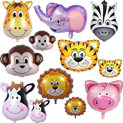 BESTZY Walking Animal Balloons 9pcs Pet Dog Foil Balloon latex Dog Balloon Air Walkers Inflated Balloons for Kids Gift Birthday Party Decoration