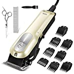 【12V High Power Motor】Traditional clipper is always blocked by the hair during trimming thick hair. That's why we upgrade this pet clippers with Stronger motor (6000r/min). High rotating speed motor provides strong and lasting power to the running bl...