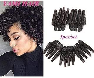 8a Brazilian Spring Curly Hair Bundles (8 inch) Virgin Remy Loose Curl Hair Extensions Brazilian Funmi Curl Hair 50g Human Hair Bouncy Curl Natural Color(8 8 8 8 8)