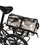WILDKEN Fahrradtasche Wasserdicht Fahrrad Gepäckträgertasche Hinterradtasche Sport Umhängetasche für Herren Damen (Grau)