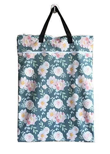 MUMBABY Grand suspendu humide/sec tissu couche seau sac pour couches réutilisables ou blanchisserie (Rose)