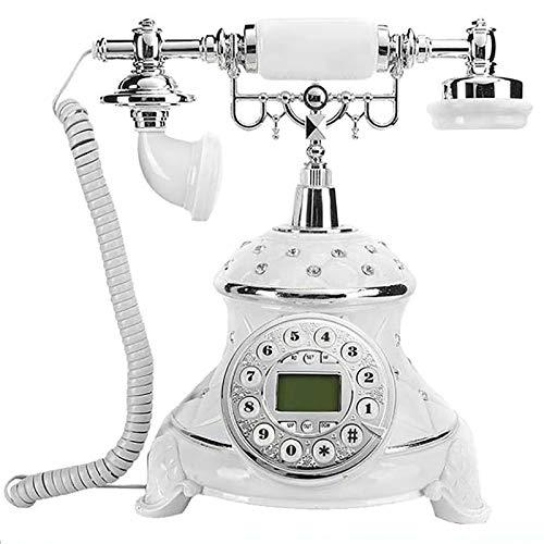 XIAOPENG Imitación de Teléfono Antiguo con Incrustaciones de Diamantes Teléfono Clásico Teléfono Fijo Multifuncional Decorativo Teléfono Fijo Teléfono Antiguo Fijo