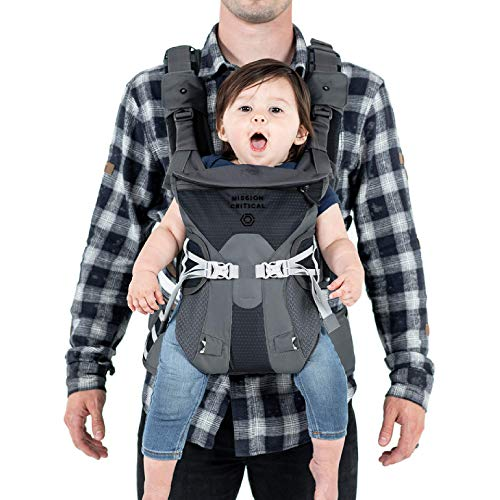 Mission Critical S.02 Adventure Baby Carrier, Baby Gear for Dads (Anthracite)
