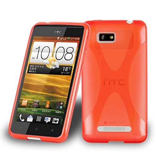 Preisvergleich Produktbild Cadorabo Hülle für HTC ONE SU - Hülle in Inferno ROT Handyhülle aus flexiblem TPU Silikon im X-Line Design - Silikonhülle Schutzhülle Soft Back Cover Case Bumper