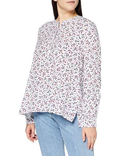 Tommy Hilfiger Damen Raya Pop-Over Blouse Ls Hemd, Weiß (Prairie Floral White), 44