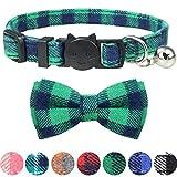 Dynamow Collar para Gato con Pajarita & Cascabeles, Verde