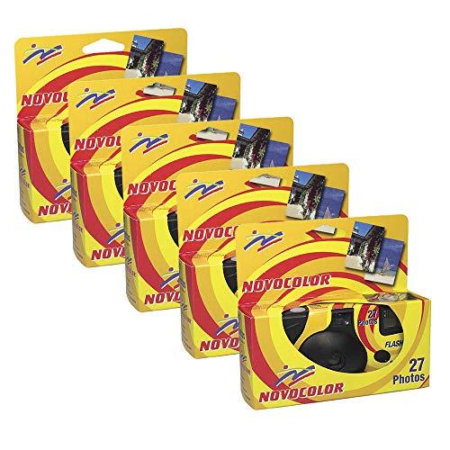 Novocolor - Fotocamere usa e getta con flash (27 esposizioni con Flash) 5 unità