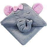 Baby Kapuzenhandtuch mit Elefant - 75x75 cm - Frottee Badetuch