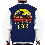 Cloud City 7 Just 1 More Beer Vintage Sun Men's Varsity Jacket