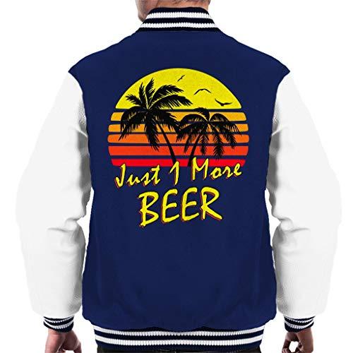 Cloud City 7 Just 1 More Beer Vintage Sun Men\'s Varsity Jacket