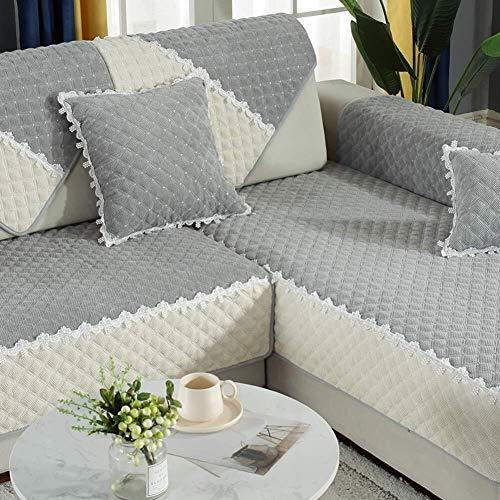 J-Kissen Couch Cover, L-Form Sofa-Abdeckung, sectinal Plüsch Sofa Slipcover, for 3 Kissen Couch, for Hunde, Liebe Sitzverstell- Abdeckung (Color : B, Size : 110x210cm(43x83inch))