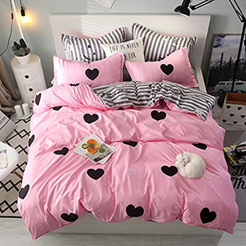 None Branded Brushed Duvet Cover Set king Size Skin care aloe cotton three-piece suitLightweight Microfiber Queen (Double) Size Duvet Cover Set 200x230