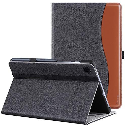 ZtotopCase Schutzhülle für Samsung Galaxy Tab S6 Lite 10,4 Zoll 2020, Schutzhülle aus PU-Leder, Premium-Qualität, Business-Design, Folio Cover, automatische Weck-/Schlaffunktion, Denim, Schwarz