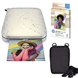 HP Sprocket Select Portable Instant Photo Printer for Android and iOS Devices (Eclipse) Zink Paper Bundle