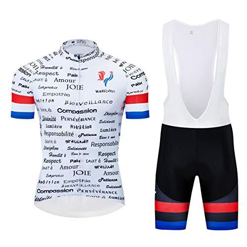 logas Maillot Cuissard Cyclisme Homme Tenue de Vélo...