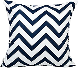 TangDepot Decorative Handmade Zebra-Stripe/Wavy Line 100% Cotton Throw Pillow Covers/Pillow Shams, Many colors and sizes - (26