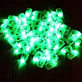 Neo LOONS® 100pcs/lot 100 X Green Led Flash Ball Lamp Balloon Light long standby time for Paper Lantern Balloon Light Party Wedding Decoration