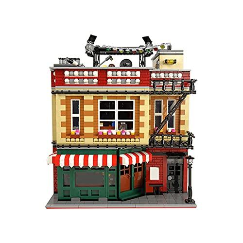 HARTI Juego de modelos de construcción de micro mini bloques, película clásica y arquitectura de televisión Cafe Bar montado ladrillos de construcción conjunto niños juguete educativo regalo Y1