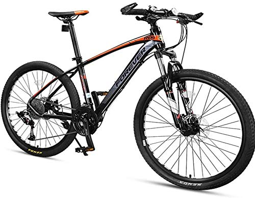 33 Speed Mountain Bikes, Men Aluminum Frame Disc Brake Hardtail Mountain Bike, Womens Mountain Bicycle, All Terrain Mountain Bike (Color : Grey, Size : 27.5 Inch)
