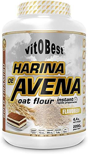 Harina de Avena Sabores Variados - Suplementos Alimentación y Suplementos Deportivos - Vitobest (Brownie, 2 Kg)