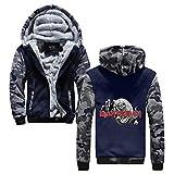 Iron Maiden Pullover Mens Populares Mantener el Calor en Invierno con Prendas de Vestir Exteriores de la Cremallera Escudo de Invierno con Capucha Impreso Unisex (Color : Blue12, Size : XL)