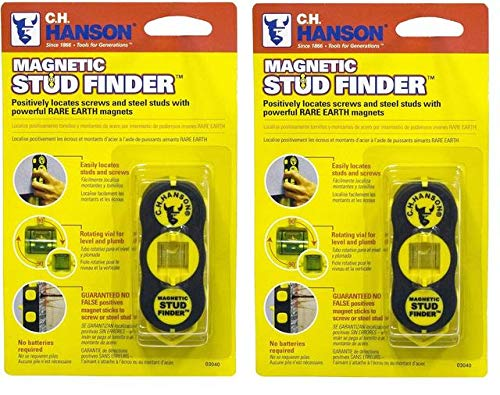 CH Hanson 03040 Magnetic Stud Finder Pack of 2