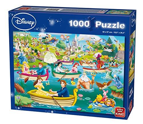 King 5260 Disney 1000 Teile Puzzle Spaß auf dem Wasser, Blau Karton