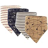 Hudson Baby Unisex Baby Cotton Bandana Bibs, Airplane, One Size