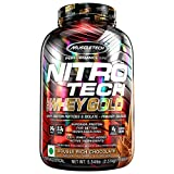 Muscletech Performance Series Nitrotech Whey Gold (Whey Protein Peptides & Isolate, 24g Protein, 5.5g BCAAs, 4g Glutamine, Gluten Free, Post-Workout) - 5.54lbs, 2.51kg (Double Rich Chocolate)