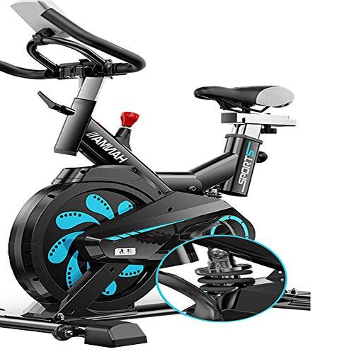 JUYHTY Bicicleta EstáTica Giratoria, Pedal De AleacióN De Aluminio con Resorte De AbsorcióN De Impactos, Reloj Ajustable De 6 Ranuras Mudo, Adecuado para Fitness, TamañO: 975 * 500 * 1050 Mm,Negro