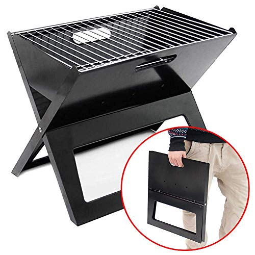 Charcoal Barbecue Grill, Portable Bbq Grill,portable Barbecue Grill for 7-8 Persons, Big Size (49x30x40cm/45x30x35cm) Charcoal BBQ for Table Camping Outdoor Garden Grill Bbq Party KAIRUI ( Size : S )