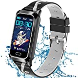Inspiratek Kids Fitness Tracker for Girls and Boys Age 5-16 (5 Colors), Kids Activity Tracker, Fitness Watch for Kids - Fitness Tracker for Kids - Activity Tracker for Kids , Kids Step Tracker (Black)