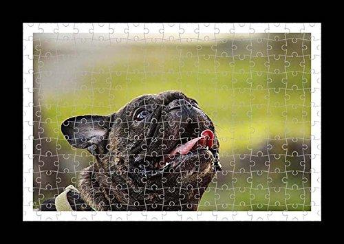 Stile Puzzle, Pre-assemblato da parete con stampa del cane Bulldog francese, by Lisa Loft