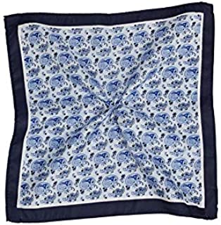 Tarocash Men's Mini Paisley Pocket Square for Going Out Smart Occasionwear