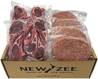 NEWZEE ギフトセット ハンバーグパティ&ラムチョップセット【100%ニュージーランド産】ラムチョップ50g x 10本+ハンバーグ 150g × 4枚 (合計1.1kg) 【冷凍】- NEWZEE Beef & Lamb Pack [10...