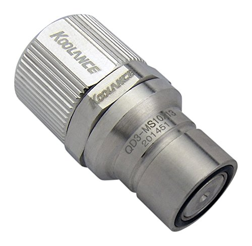 Koolance QD3-MS10X13 QD3 Male Quick Disconnect No-Spill Coupling, Compression for 10mm x 13mm (3/8in x 1/2in)